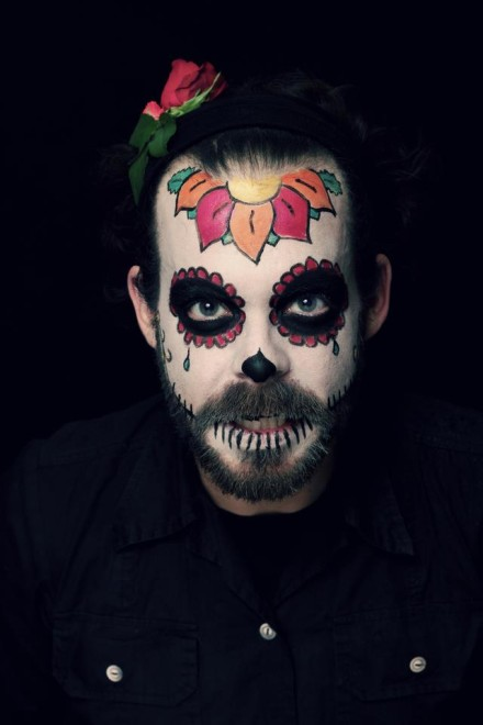 Salon Zwei Sugar skull Make-Up, Dia De Los Muertos