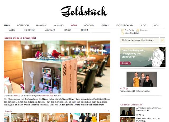GOLDSTÜCK Köln über Salon Zwei 2013