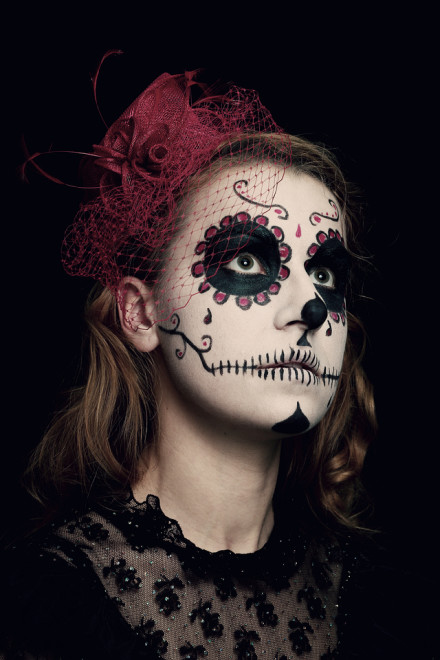Salon Zwei Köln Sugar skull Make-Up, Dia De Los Muertos oder Karneval