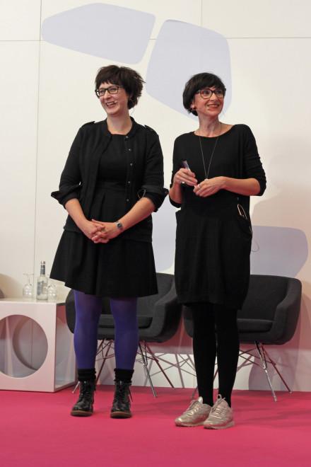 Claudia Schaaf auf der Vivaness Bühne